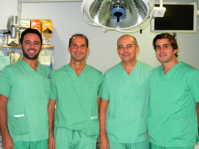 Cirujanos del Intituto Quirurgico de Andalucía