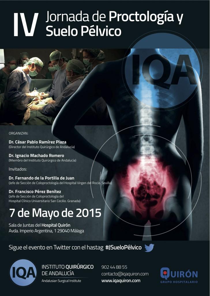 Cartel IV Jornada Proctología y Cirugía de Suelo Pélvico