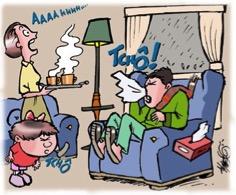 estornudos gripe o resfirado