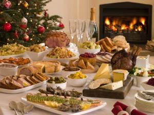 mesa en fiestas navideñas