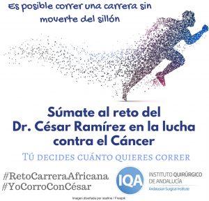 #YoCorroConCésar contra el cáncer